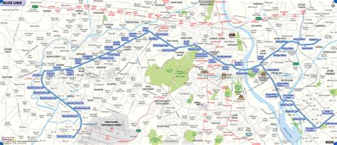 blue line metro map delhi metro blue line map noida city centre vaishali