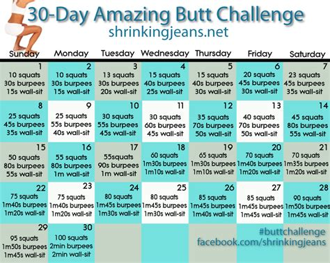 30 day buttlift challenge 365 days to cleaner healthier living mind and soul