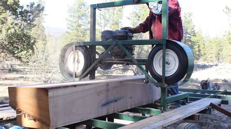 how to build a portable sawmill from start to