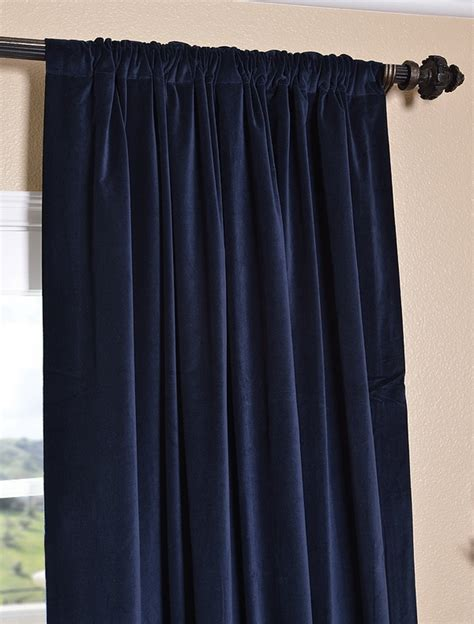 Navy Velvet Curtains Navy Velvet Curtains P Sunroom
