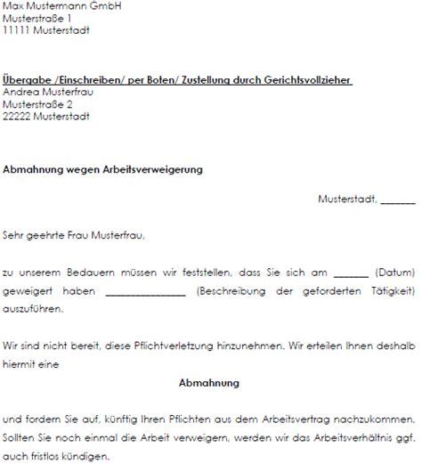 Abmahnung Muster Arbeitsrecht Vertrag Vorlage Digitaldrucke De Musterschreiben Abmahnung Wegen Versp 228 Tung Arbeitgeber