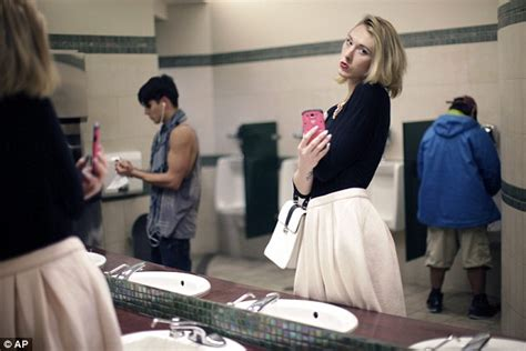 what bathroom should a transgender use transgender woman brae carnes launches caign blasting