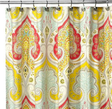 Echo Design Curtains Echo Design Jaipur Fabric Shower Curtain Contemporary Shower Curtains By Bed Bath Beyond