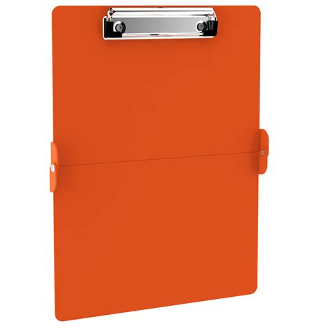 Name Tag Id Acrylic Model Vertical Transaparant Limited orange clipboards