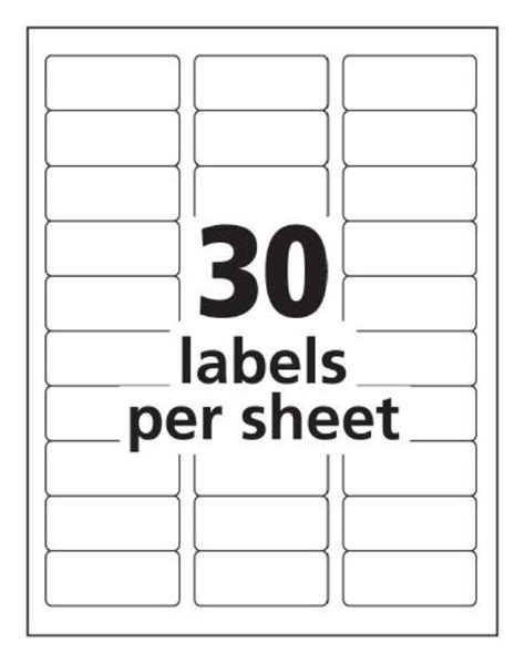 Label Templates 30 Per Sheet Invitation Template Free Mailing Label Template