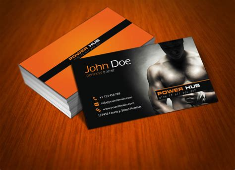 fitness business card template power hub free psd business card by mct2art on deviantart