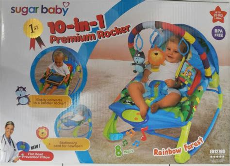 Rocking Bouncer Baby Sugar Baby sugar baby bouncer premium rocker rainbow forest 10 in 1
