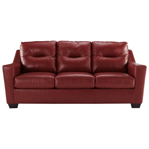 leather sleeper sofa signature design by kensbridge leather match