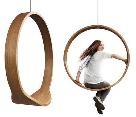 Circle Swing I Rocking Chair A Dynamic Wooden Accesory