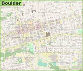 where is boulder colorado on the map boulder downtown map