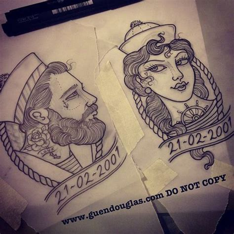 nautical couple tattoos 13 unique matching couples tattoos that aren t