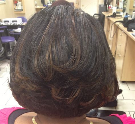 bob hairstyle with peek a boo highlights layered bob with peek a boo highlights hairstyles