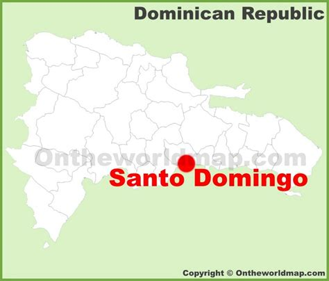 where is republic located on the map santo domingo location on the republic map