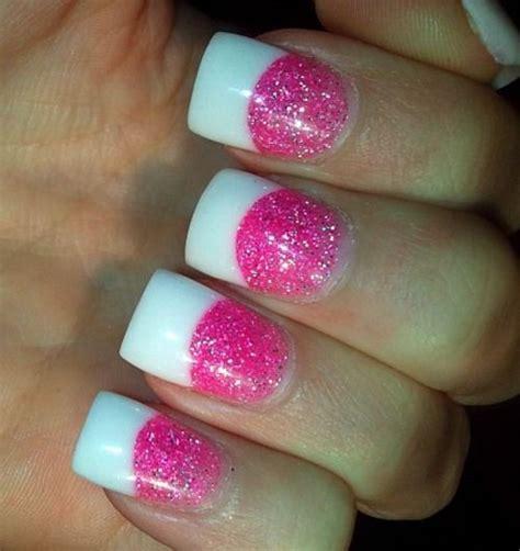 Pink Glitter Acrylic Nail Designs | pink glitter acrylic nails glitter acrylic tumblr