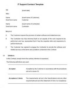 technical support agreement template 7 it support contract templates free word pdf