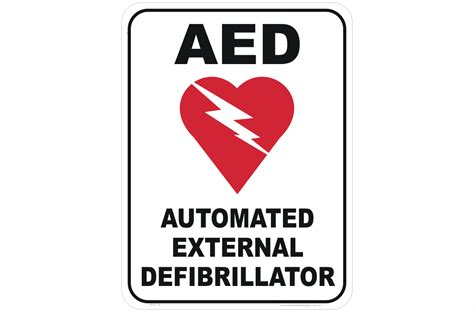 automated external defibrillator sign in16178 national
