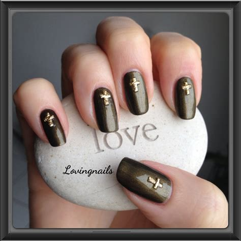 Deco Ongle Simple by Nail Avec D 233 Co Croix Simple Lovingnails