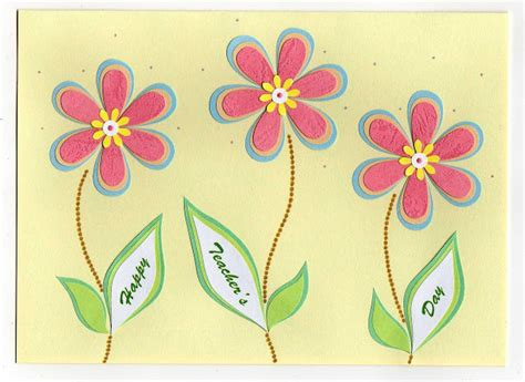 Simple Handmade Teachers Day Cards - azlina abdul s day cards