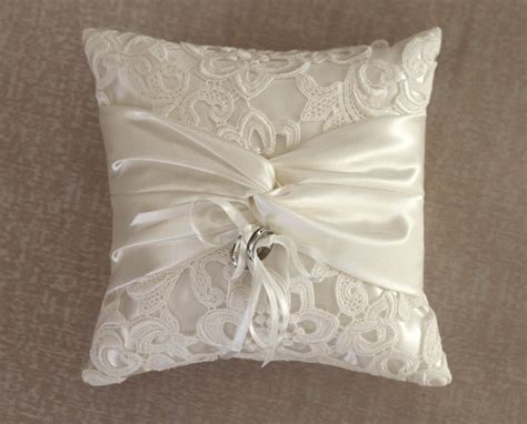 ring pillow ring bearer pillow ivory lace ring pillow by antiquebridal
