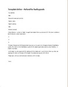 Refund Letter Template by Letter Of Refund For Faulty Goods For Ms Word Document Hub