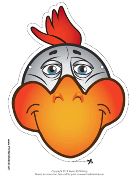 printable chicken mask mask