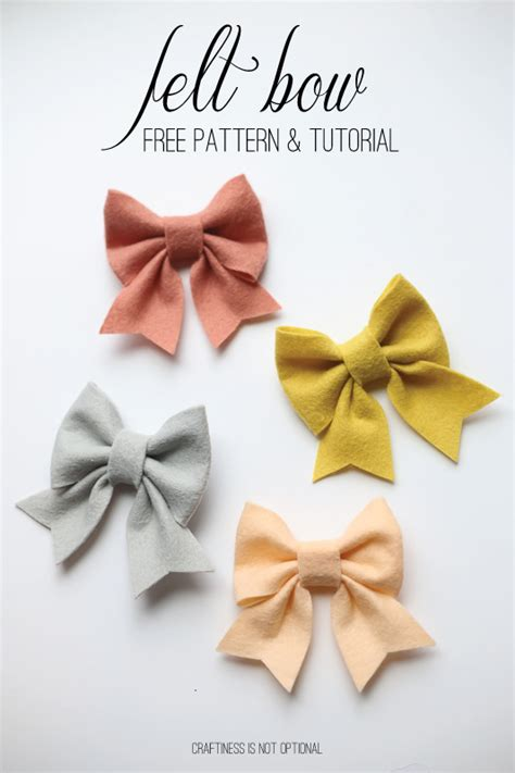 felt bow template felt bow free pattern and tutorial