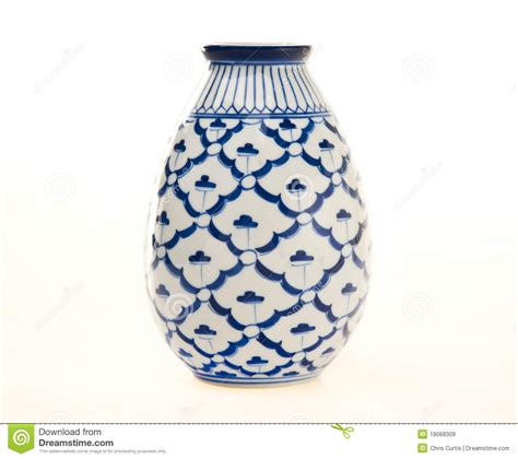 blue and white ceramic l blue and white pottery vase royalty free stock images