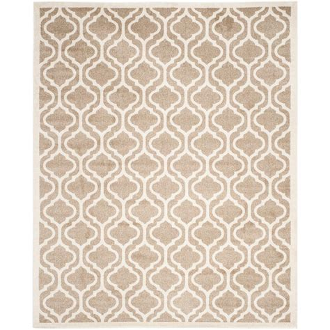 Rectangle Area Rugs Safavieh Amherst Wheat Beige 8 Ft X 10 Ft Indoor Outdoor Rectangle Area Rug Amt402s 8 The