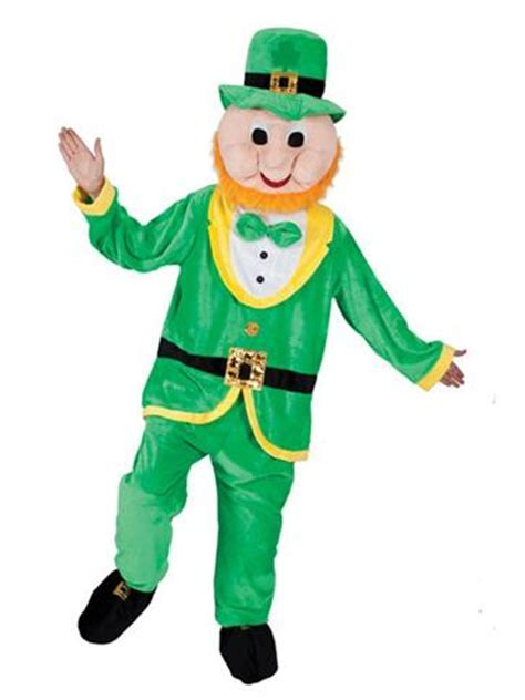 Lucky Leprechaun Mascot   Adult Costume   Party Delights