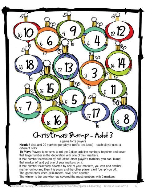 printable christmas brain games fun games 4 learning christmas math games