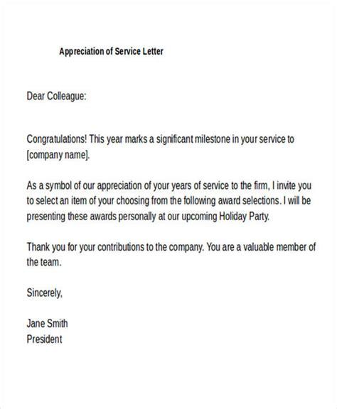 appreciation letter templates ms word