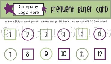 scentsy frequent buyer card template maganda studios june 2011