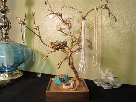 how to make a jewelry tree out of wire shades of tangerine jewelry tree diy