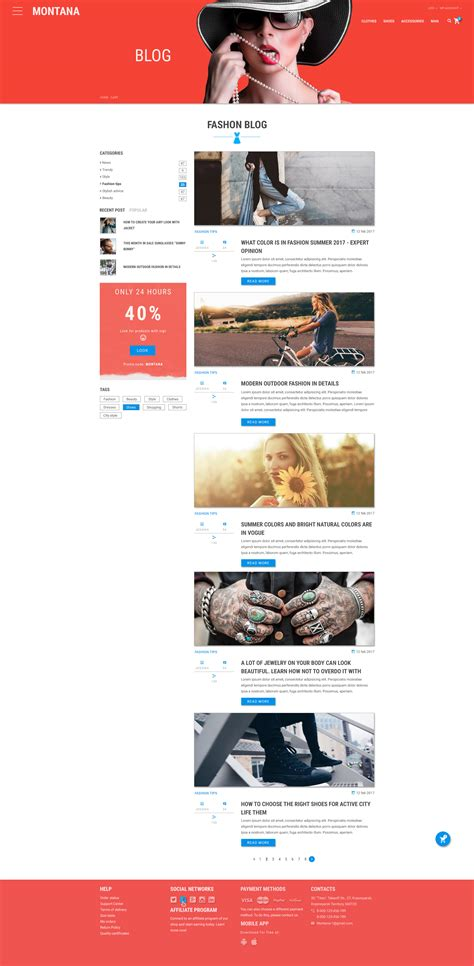 themeforest online store montana bright and modern online store by netgon