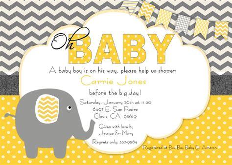 Elephant Baby Shower Invites by Elephant Baby Shower Invitations Baby Shower Decoration