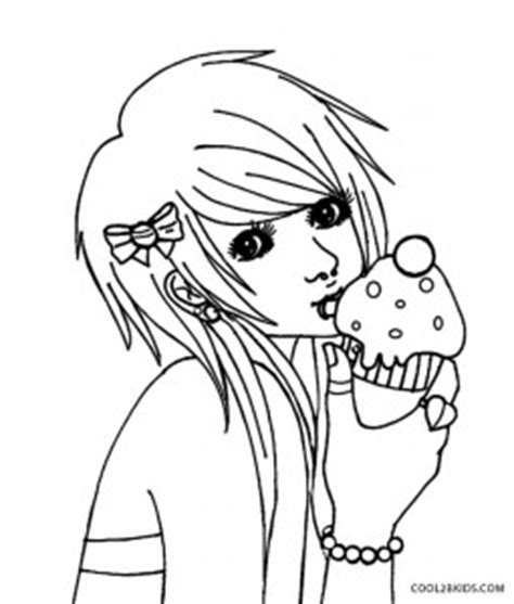 emo anime girl coloring pages printable emo coloring pages for kids cool2bkids