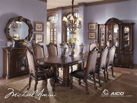 aico dining room set michael amini monte carlo ii traditional luxury dining