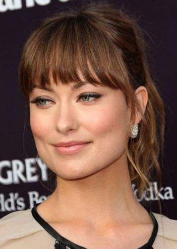 brunette hairstyles for square faces 8 olivia wilde bangs haircuts she makes bangs look hot