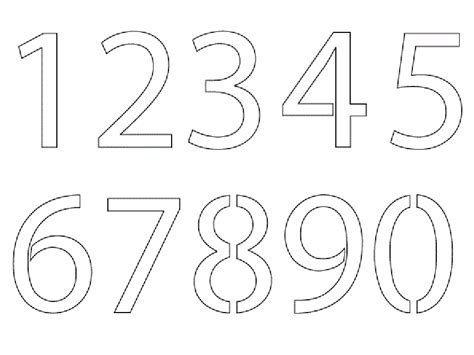 printable numbers template printable coloring pages numbers az coloring pages
