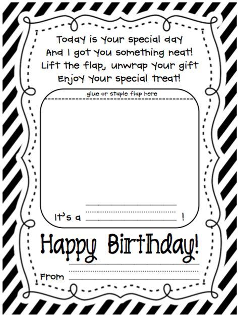 printable happy birthday teacher card happy birthday craftivity printables and more a