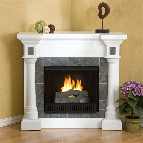 corner fireplace for sei slate white corner gel fuel fireplace 549 99 at mercantila