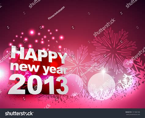 beautiful happy new year design beautiful happy new year vector design 121366186