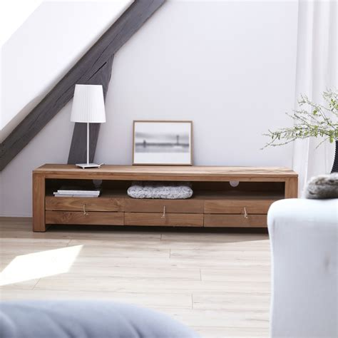 meuble tv chambre meuble tv bois massif meubles t 233 l 233 chene teck acajou