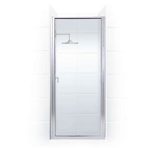 Hinged Glass Shower Door Coastal Shower Doors Paragon Series 32 In X 82 In Framed Continuous Hinged Shower Door In