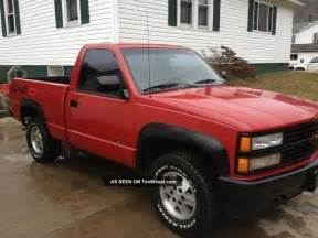 1991 chevrolet c1500 sport fleetside pickup 4x4 red