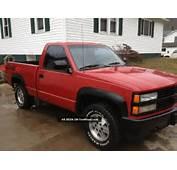 1991 Chevrolet C1500 Sport Fleetside Pickup 4x4 Red