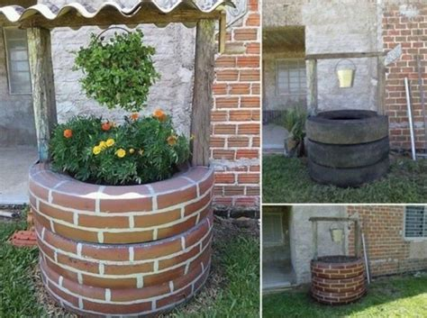 How To Turn A Tire Into A Planter by Turn Tires Into A Wishing Well Planter
