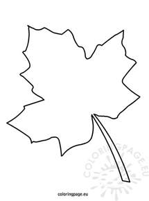 fall leaf template autumn leaf template coloring page
