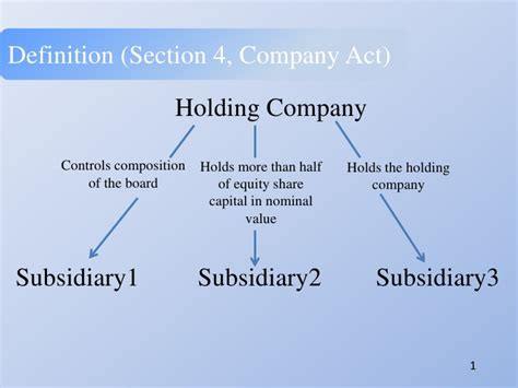definition section group9 a2 holding subsidiary companies formatted