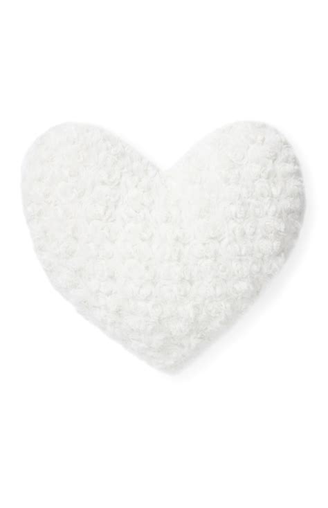 primark cusions cream rosebud textured heart cushion for your beloved ones
